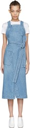 Stella Mccartney Blue Denim Apron Dress