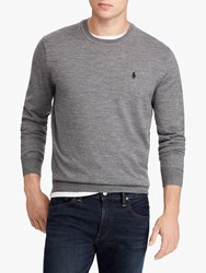 Ralph Lauren Polo Merino Wool Jumper Fawn Grey Heather