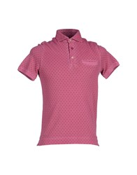 Heritage Topwear Polo Shirts Men Garnet