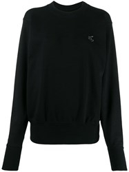 Vivienne Westwood Anglomania Logo Patch Sweatshirt Black