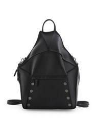 Hammitt Bob Convertible Leather Backpack Black