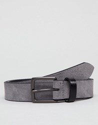 Peter Werth Grey Suede Belt With Contrast Keeper