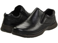 Hush Puppies Lunar Ii Black Leather Men's Slip On Shoes