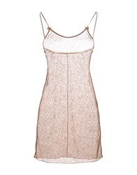 Momoni Sleeveless Undershirts Camel