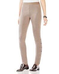 Bcbgmaxazria Dominick Side Snap Ponte Leggings Heather Light Tan