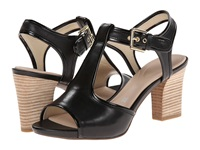 Rockport Seven To 7 75Mm T Strap Sandal Black Vegtan Patent High Heels