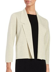 Eileen Fisher Petite Open Front Cardigan White