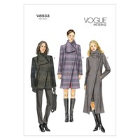 Vogue Women's Funnel Neck Coat Sewing Pattern 8933