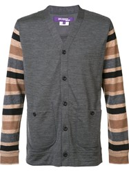 Junya Watanabe Comme Des Garcons Man Striped Longsleeves Cardigan Grey