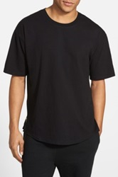 The Narrows Oversize Side Zip T Shirt Black