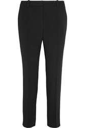 Vanessa Bruno Moustique Cropped Crepe Straight Leg Pants Black