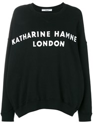 Katharine Hamnett London Logo Print Sweatshirt Black