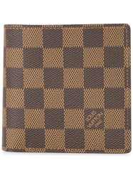 Louis Vuitton Vintage Portefeuille Marco Damier Wallet Brown