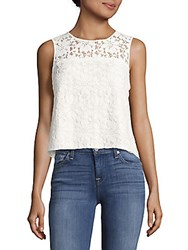 Parker Sleeveless Lace Top White