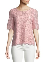 Imnyc Isaac Mizrahi Sequined Lace Blouse Chalk