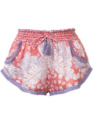 Poupette St Barth 'Lulu' Shorts Pink Purple