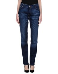 Pt0w Denim Denim Trousers Women Blue