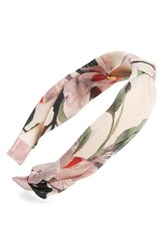 Cara Floral Knotted Headband Pink Multi