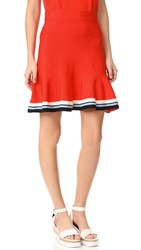 Victoria Beckham Pull On Skirt Flame Red Multi