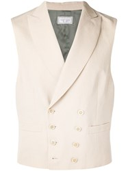 Brunello Cucinelli Double Breasted Waistcoat Neutrals
