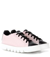 Kenzo Leather Sneakers Pink