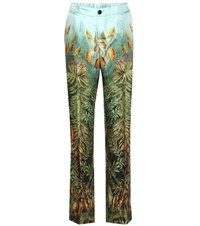 For Restless Sleepers Printed Silk Trousers Multicoloured