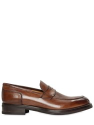 Francesco Benigno Hand Painted Leather Penny Loafers