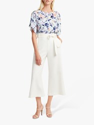 French Connection Whisper Ruth Wide Leg Culottes Summer White