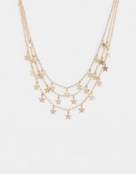 Ashiana Multi Layered Necklace Gold