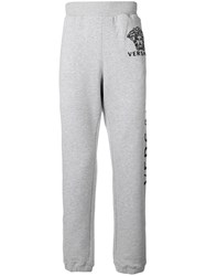 Versace Slim Fit Jogging Trousers Grey