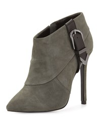 Valle Suede High Heel Bootie Dark Gray Charles David Dark Grey