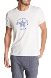 Save Khaki Short Sleeve Jersey Tee White