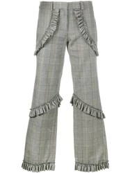 Simone Rocha Prince Of Wales Checked Trousers Grey