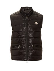 Moncler Gui Quilted Down Nylon Gilet Black