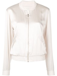 Majestic Filatures Metallic Bomber Jacket Neutrals