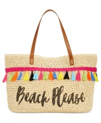 Inc International Concepts Arriana Beach Please Tote Created For Macy's Natural