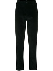 Salvatore Ferragamo Corduroy Effect Straight Trousers Black
