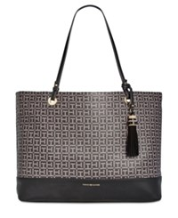 Tommy Hilfiger Grace Coated Tassel Tote Black Pepper