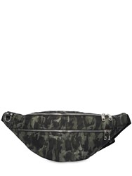 Dolce And Gabbana Camouflage Nylon Belt Pack Military Green
