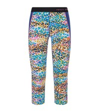 Juicy Couture Calypso Leopard Print Cropped Leggings Female Multi