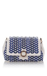 Agnona Small Babe Woven Shoulder Bag Blue