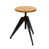 Pols Potten Stool Round Tripod Natural
