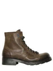 Oxs Washed Leather Hiking Boots