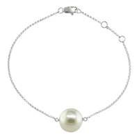 London Road 9Ct White Gold Burlington Pearl Bracelet White