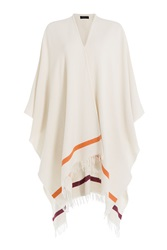 Rag And Bone Rag And Bone Wool Blend Fringe Cape White