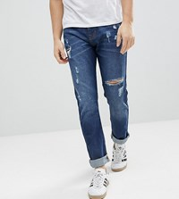Brooklyn Supply Co. Co Tapered Jeans With Thigh Rip In 90'S Blue Bl1 Blue 1