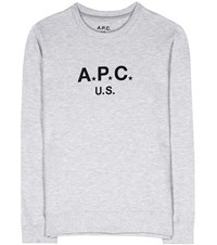 A.P.C. Cotton Jersey Sweater Grey