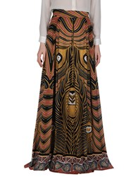 Class Roberto Cavalli Skirts Long Skirts Women Brown