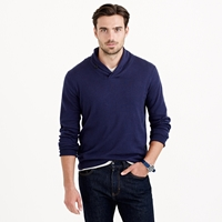 J.Crew Cotton Cashmere Shawl Collar Sweater