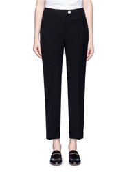 Helmut Lang Cropped Technical Suiting Pants Black